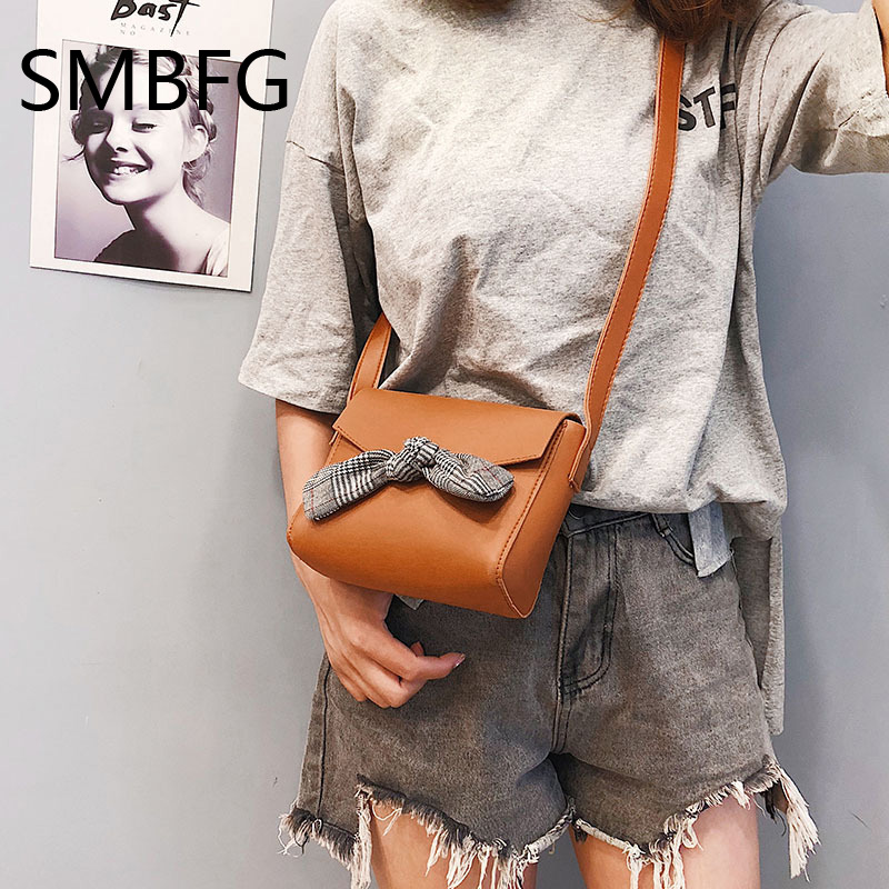 Women Handbag with Bow Female PU Leather Small Bags Handbags Ladies Portable Shoulder Bag Office Ladies Hobos Bag 2018 New 5