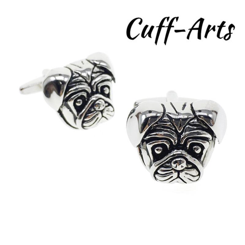 Cuffarts Silver Cufflinks Animal French Bulldog Decoration Cuff Links Jewelry 2018 Gentleman Luxury Cufflinks Gifts C10057