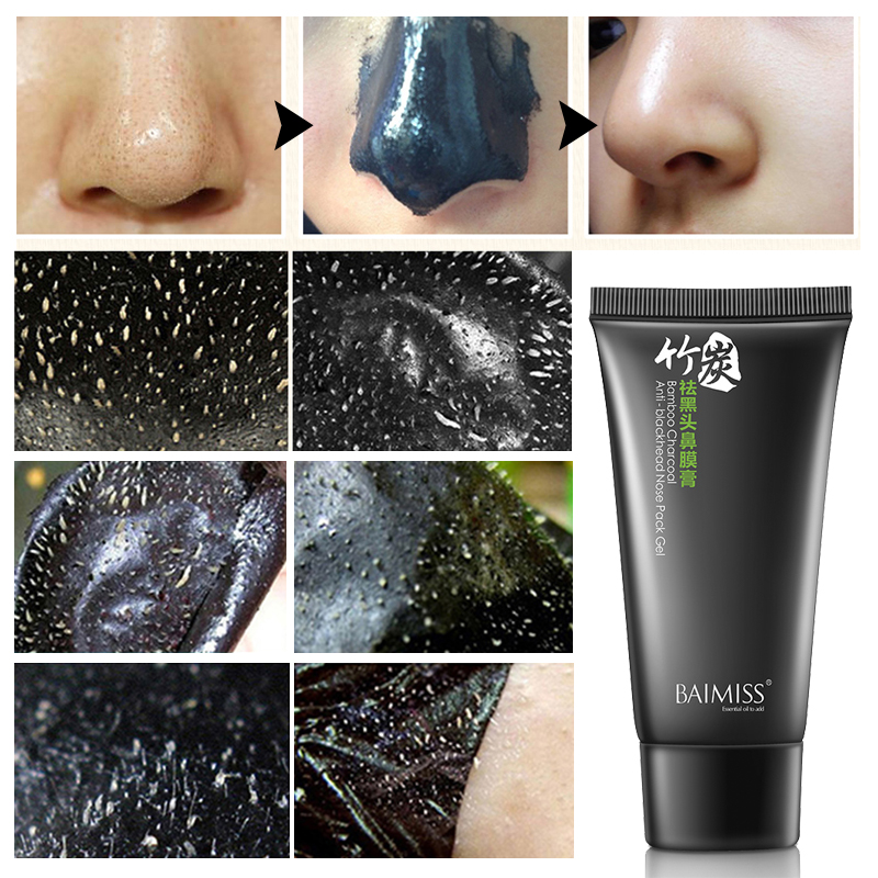 baimiss nose blackhead remover face black mask acne treatment peeling mask suction facial skin. Black Bedroom Furniture Sets. Home Design Ideas