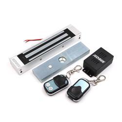 Draadloze 315 mhz Afstandsbediening Magnetische lock Kit met Afstandsbediening Handvat Exit Voeding 180 kg 350Lbs