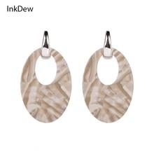 InkDew Long Tassel Earrings with Natural Stone Drop Earrings Boho Earrings for Women Gift Jewelry Long earrings vintage Bohemian цена 2017
