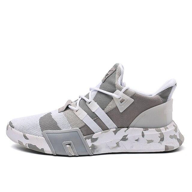 Koşu ayakkabıları Erkekler Için 2018 Bahar Sonbahar Sinek Dokuma spor ayakkabılar Yüksek Kaliteli Nefes Spor Ayakkabı Erkek Sönümleme Kalın Alt