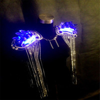 WX06 Singer LED light luminous dance ballroom costumes dj disco wears music clothes bar party cospaly Catwalk led costumes dress