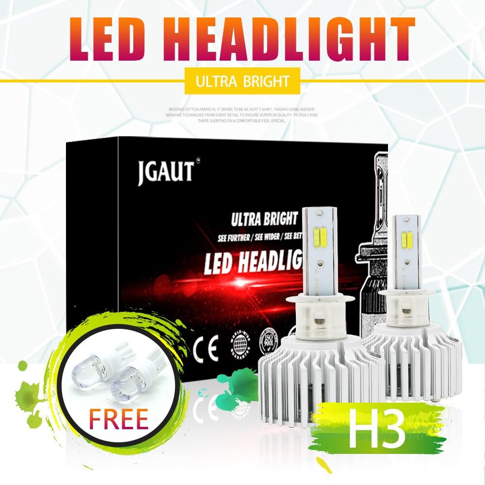 LOAUT 3 interrupteur de couleur 3000 K 4300 K 6000 K H3 phare LED feu de roulement 8000LM antibrouillard 3C KIT ampoule avant Automobiles