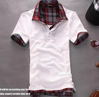 т рубашка мужчин 2016 + мужская с длинным рукавом рубашки тонкий Fit, футболка, хлопок, 3 цветов, 3 размеры, перевозка груза падения mlt20