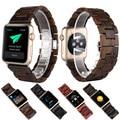 Pulseira de madeira de sândalo saúde cinta faixa de relógio de substituição de encerramento para apple iwatch wrist band com adaptador butterfly