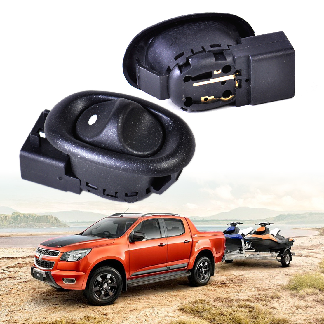 beler Black 5 pin 2Pcs Rear Electric Power Window Switch for Holden Commodore VT VY VZ VX Statesman WH 1999 2000 2001 2002