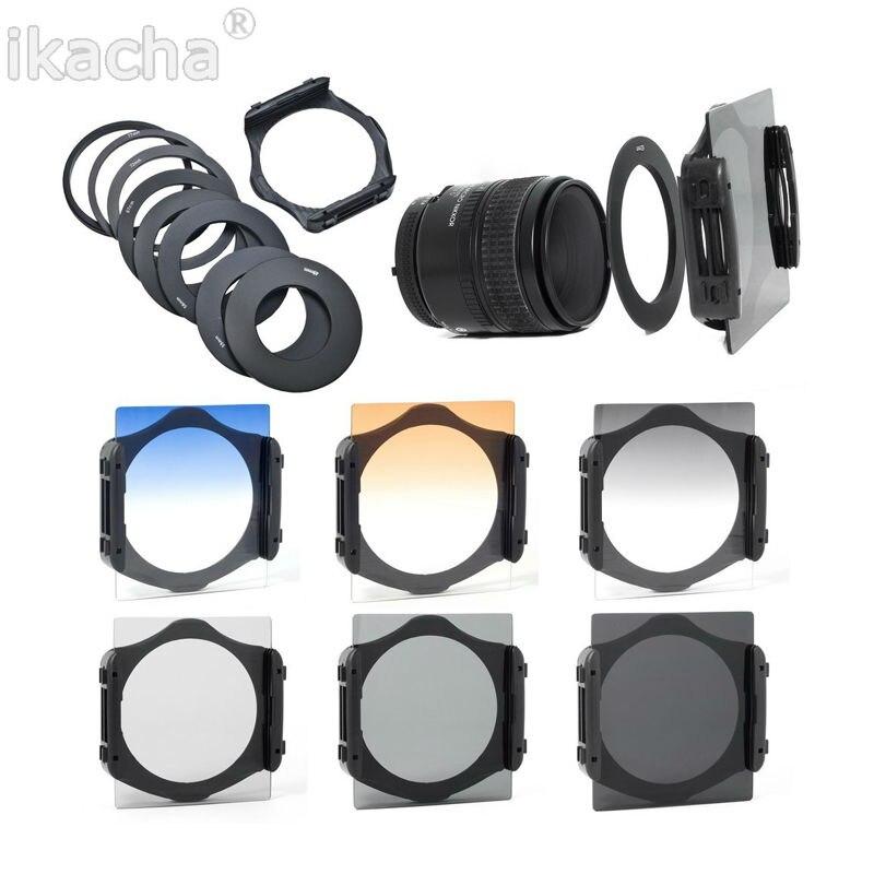 Camera Lens Filter Kit ND2 ND4 ND8 Diplômé Gris Orange Bleu filtre + 9 Pcs Adaptateur Filtre Pour Cokin P Ensemble Haute qualité