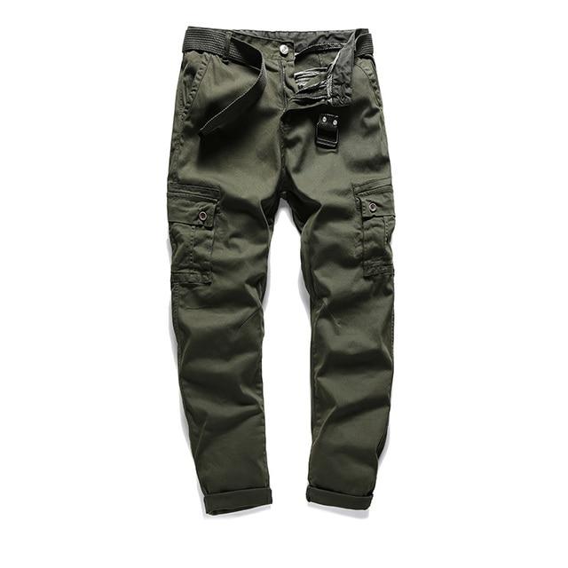 Brand New Men's Cargo Pants 2018 100% Cotton Designer Plus Size Male Street Casual Pants For Men Plus Size 30-38 AFFG803 1