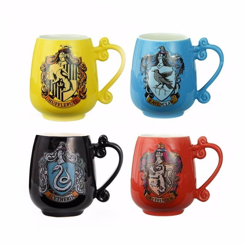 480ML High Capacity Big Belly Ceramic Mug Harry Potter School Of Magic Coffee Tea Milk Hot
