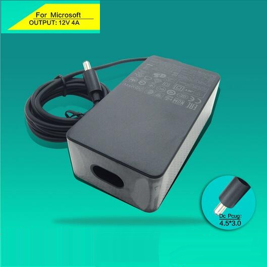 100% New Genuine Laptop Charge For Microsoft Surface Pro 3 Docking Station 12V 4A 48W 4.5*3.0mm AC adapter 1627 in stock vc15 4a dc24v new in stock