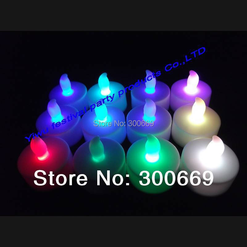Free shipping 7 colors changing led candle FLICKERING FLAMELESS LED TEA LIGHTS for black friday and