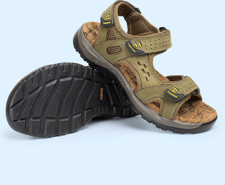 Hot Sale New Fashion Summer Leisure Beach Men Shoes High Quality Leather Sandals The Big Yards Men\`s Sandals Size 38-45 (11)