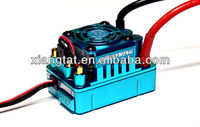 HobbyWing XERUN 120A SCT PRO ESC RC Brushless Motor Speed Controller 81020260 for 1/10 1/8 SCT 1/8 Buggy Blue
