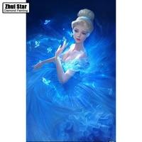 Meian 3D DIY Diamond Embroidery 5D Diamond Painting Diamond Mosaic Girl Needlework Crafts Christmas Decor ZS