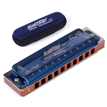 Easttop Harmonica Diatonic 10 Holes Blues Harp 2 Color 12 Keys T008K Mouth Ogan woodwind Musical Instrument  Melodica gaita