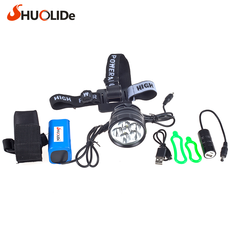 The new headlight glare CREE 6 XML2 U2 Bicycle Light headlight head lamp lampe frontale farol bike linterna frontal bike light объектив yajiamei cree xml 5 6 u2 21 2 yjm cree xml 20