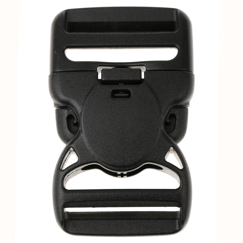 1 Pcs Black Side Release Buckle Clip For 38mm Backpack Bag Webbing Strap Case Fastener Replacement Heavy Duty Plastic
