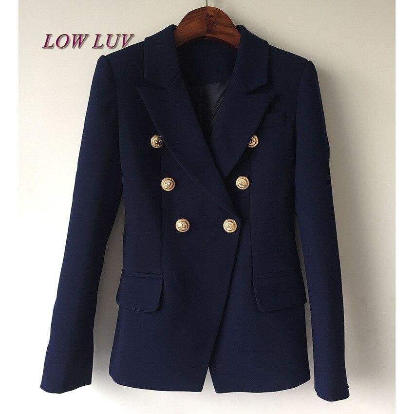 1 Manches Longues De Femmes Blazer Double 2017 Costume Boutons Or Mode Qualité À Chaude Nouvelle Boutonnage Haute Veste Petit USPqpRq7w
