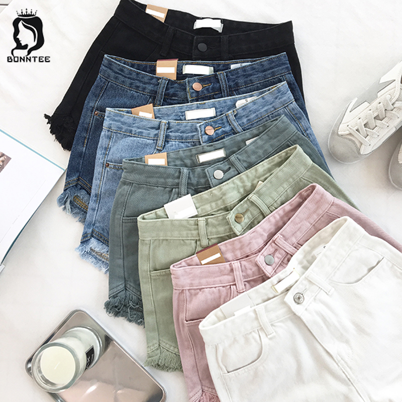 Summer Fashion Women Shorts Womens Solid High Waist Pockets Loose Female Short Females Breathable Korean Style Casual Students