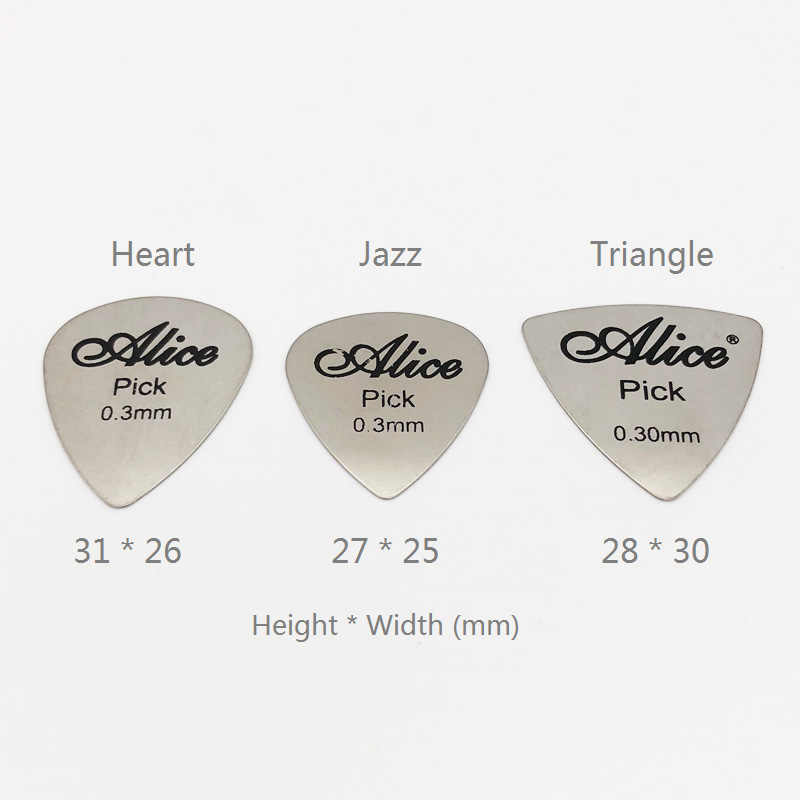 20pcs Alice Guitar Finger Picks Stainless Steel Metal Plectrums 0.3mm Thickness