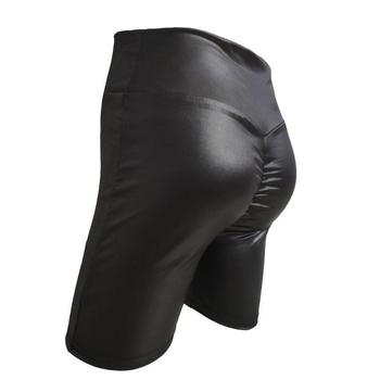New Sexy Women Slim PU Leather Autumn Winter High Waist  Black