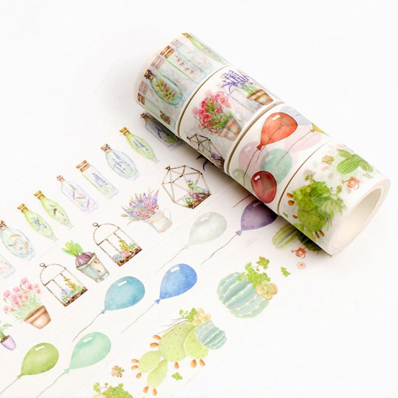 Cute Kawaii Feather Donuts Washi Tape Cartoon Panda Decorative Masking Tape For Home Decoration Free Shipping 3666