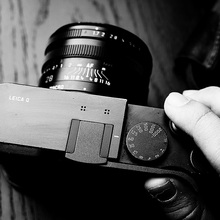 Aperto do polegar Polegar Resto Tampa Da Sapata Para Leica Q (Typ 116)