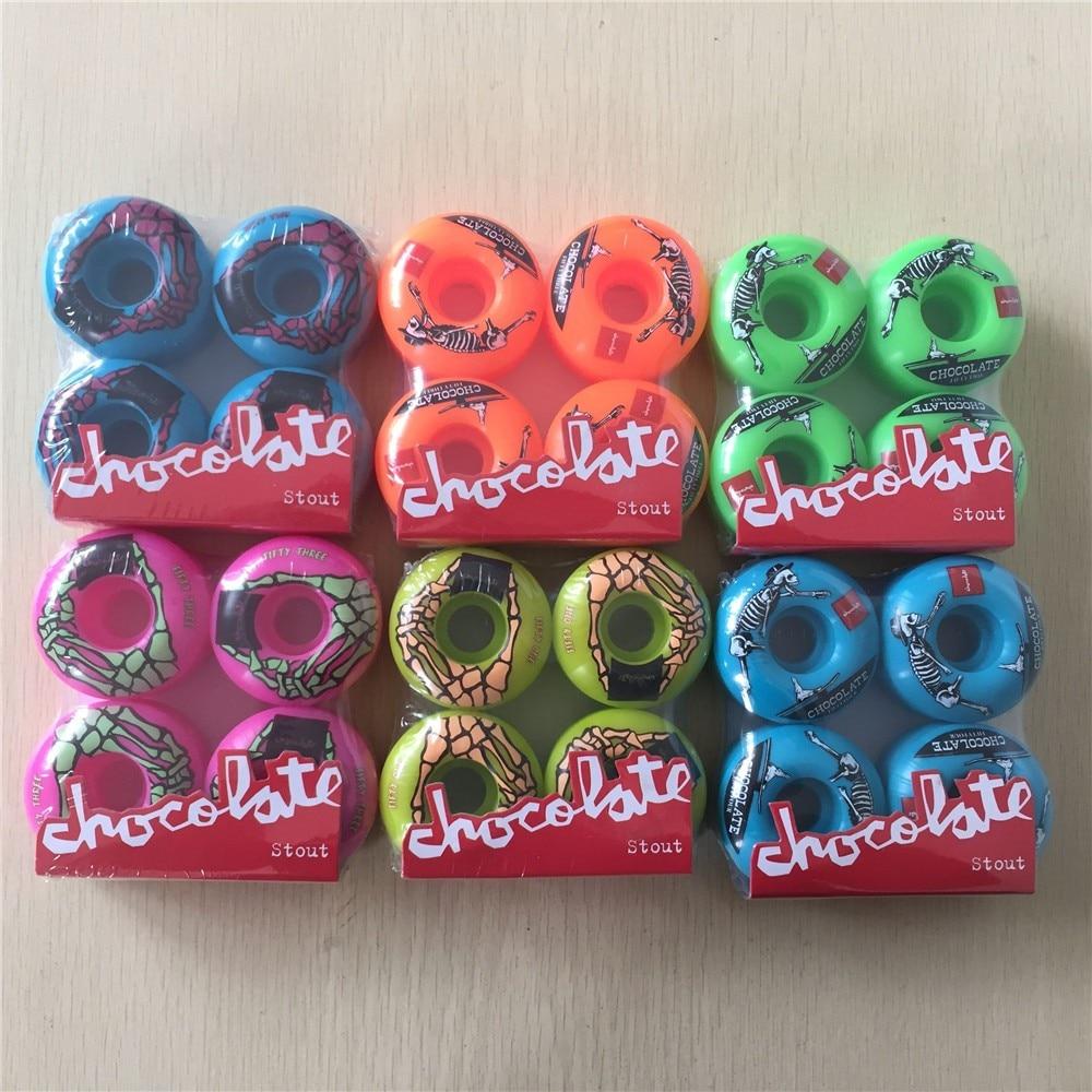 PRO quality 4pcs Set 101A Skateboard Wheels Chocolate Wheels for Shape Skate Orange PU font b