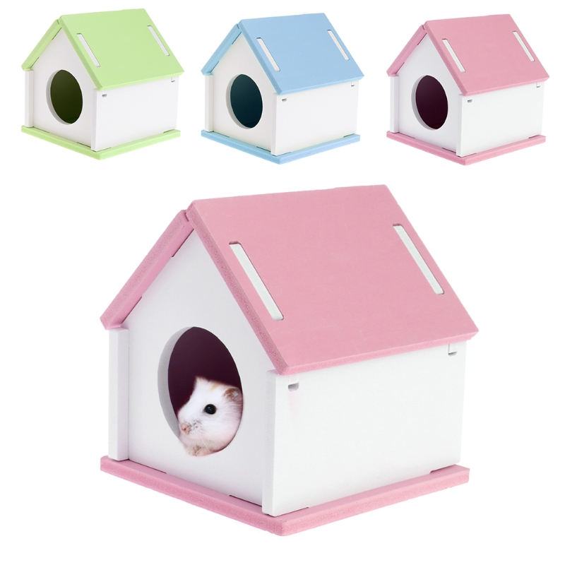 Hamster House Cage Wood Bed Small Animal font b Pet b font Guinea Pig Squirrel Gerbil