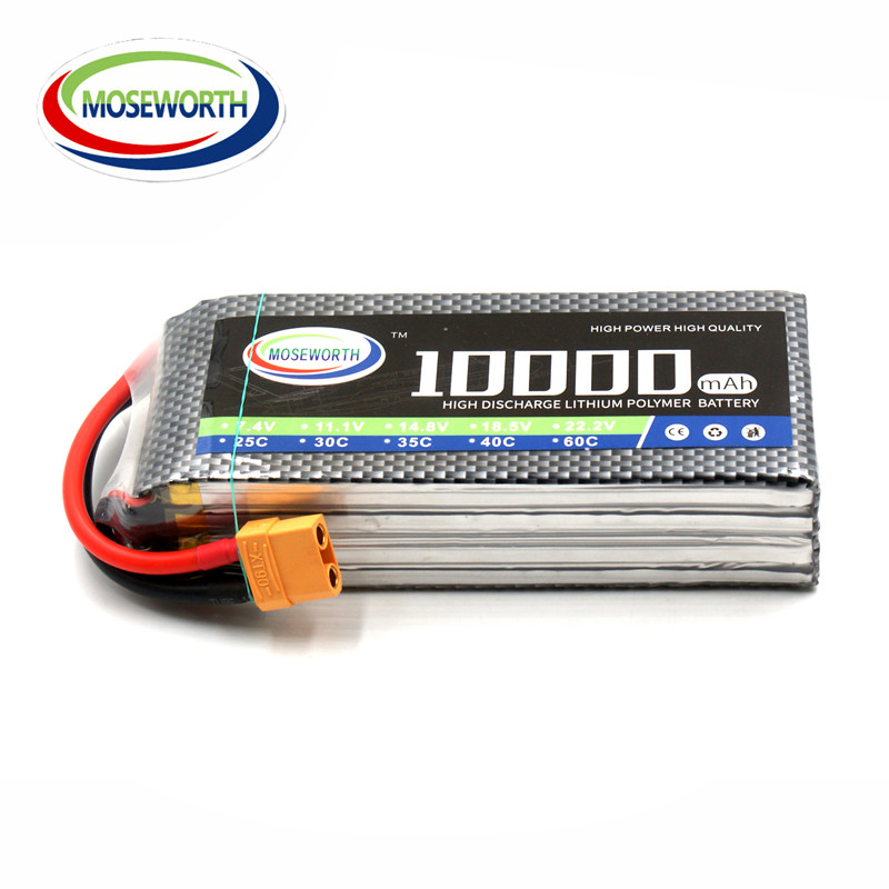 MOSWORTH RC Battery Lipo 3S 11 1V 10000mAh 25C For RC font b Drone b font