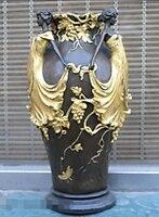 15 Западная Чистая Бронза классического искусства Скульптура три Belle рельеф ваза горшок ST