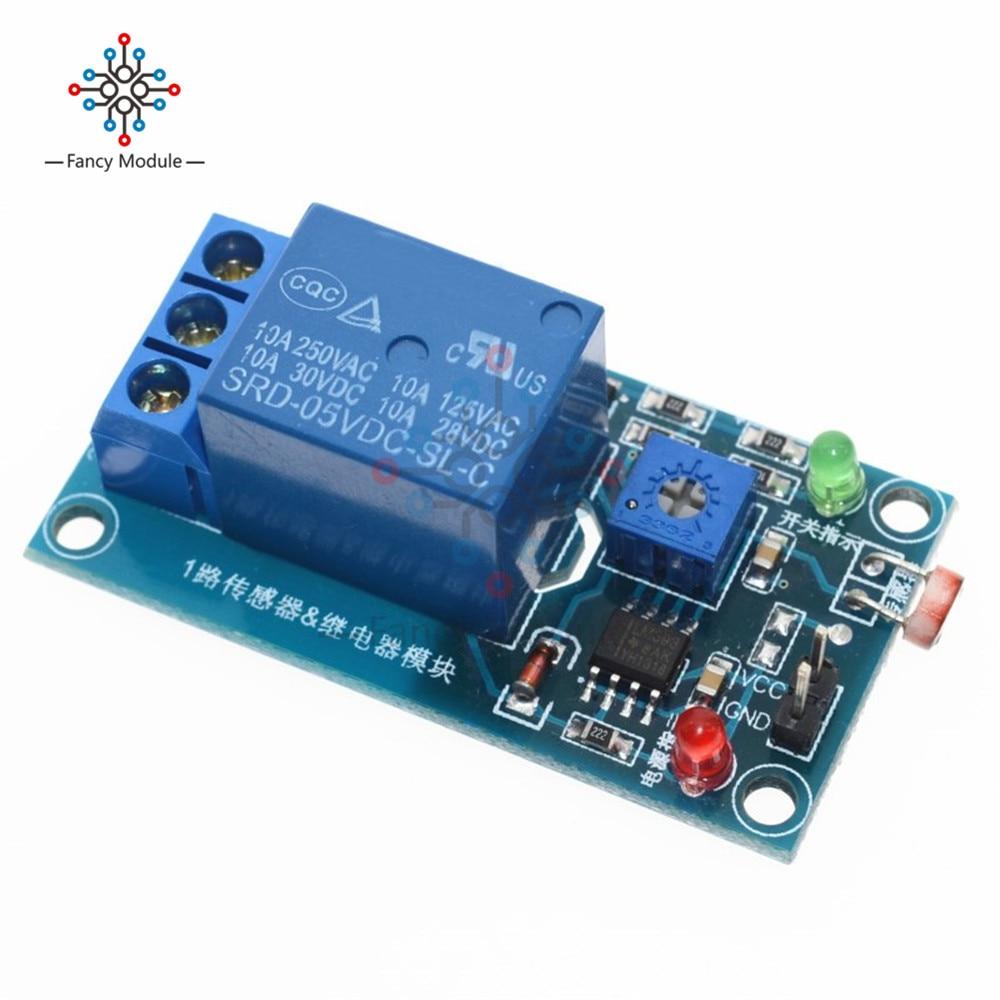 1Pcs DC 5V 12V Light Photoswitch Sensor Switch LDR Photoresistor Relay Module Light Detection Photosensitive Sensor Board