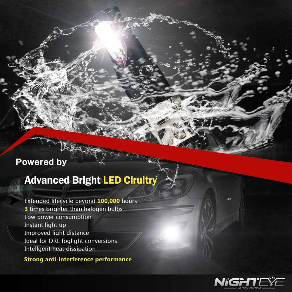 2Pcs H3 LED Lamp Super Bright Car Fog Lights 12V 24V 6500K White Car Driving DRL Daytime Running Light Auto Led H3 Bulb