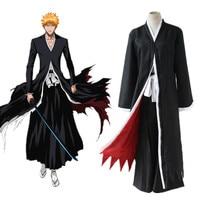 Classic Anime Bleach Cosplay Costumes Kurosaki ichigo Cloak Cosplay Costumes Trench for Halloween party