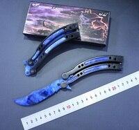 FBIQQ NEW Cs Go Butterfly In Knife Balisong Karambit Folding Knife Blade Gift Training Knife Practice