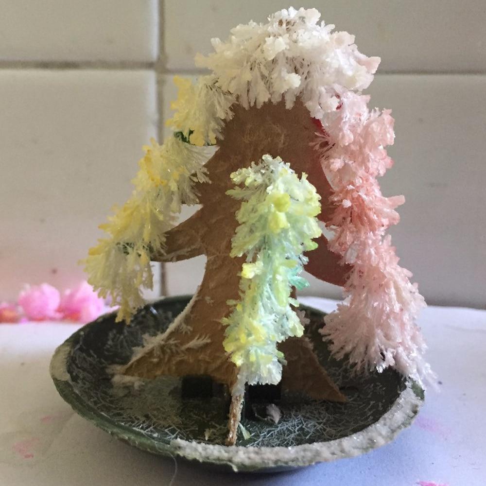 100 pièces nouvellement chaud 2019 65mm H bricolage multicolore papier magique croissant arbre mystique arbres de noël éducatifs enfants Science jouets nouveauté
