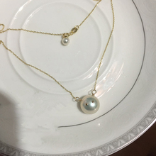 Pearl Pendant Necklace For Women Fashion Romantic Near Round Flawless Wedding Engagement Jewelry Elegant  Lady Chain