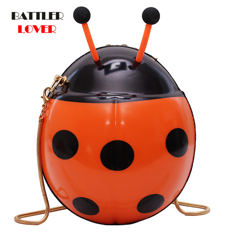 Cute Ladybird Plush Bagpack Girl Boy Children's Bag Ladybug Schoolbag Kids Toy Bag Pack For Child Gift Waterproof Crossbody Bag