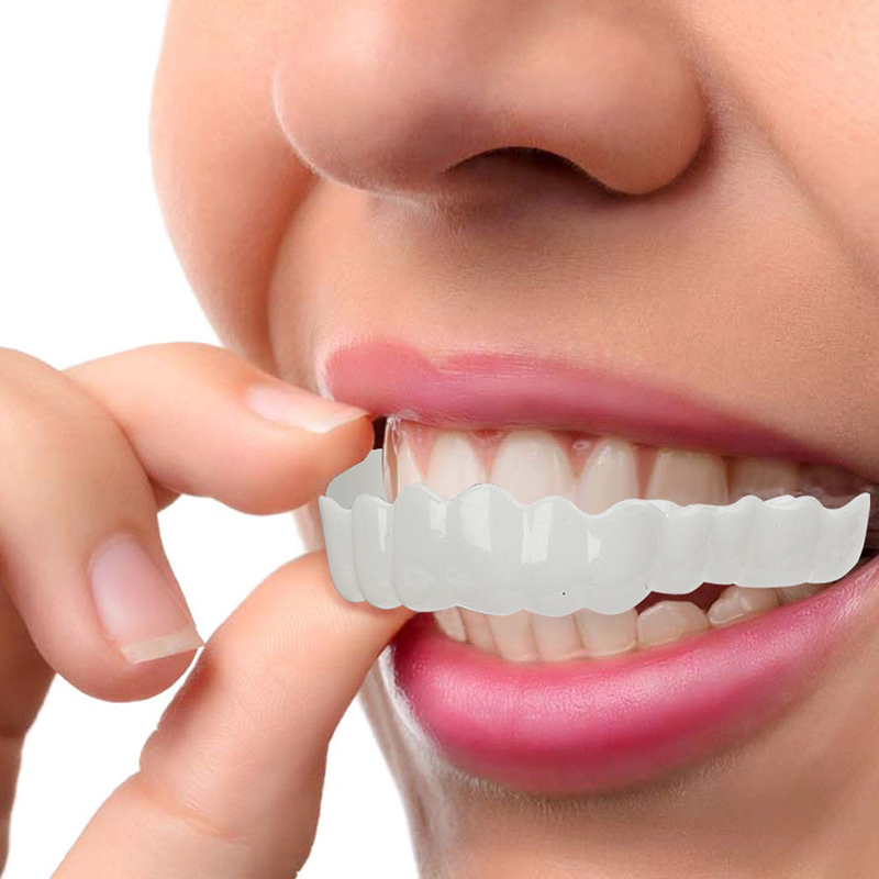 Perfect Smile Comfort Fit Flex Teeth Whitening Denture Paste False Teeth Veneers