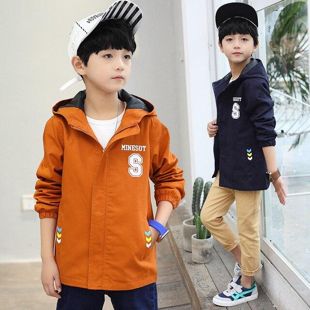 Куртка для мальчиков, весеннее пальто с капюшоном, осенняя ветровка для подростков, верхняя одежда для мальчиков, детские пальто, детская школьная одежда, спортивная одежда для подростков