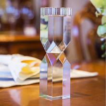 Clear Crystal Glass Tealight Candle Cups Holders Europe Candelabra