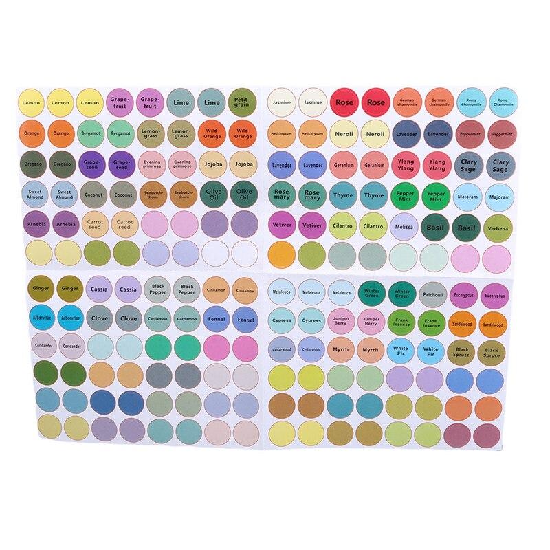 1 Piece 2020 New Hot Sale Label Round Label Sticker Glue Bottle Decal Label Essential Oil Bottle Sticker