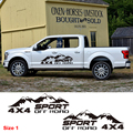 Sport Pick Up Truck Decor Vinyl Aufkleber Off Road 4X4 Berg Grafiken Aufkleber Auto Styling Auto Körper Tür Seite Angepasst aufkleber-in Autoaufkleber aus Kraftfahrzeuge und Motorräder bei