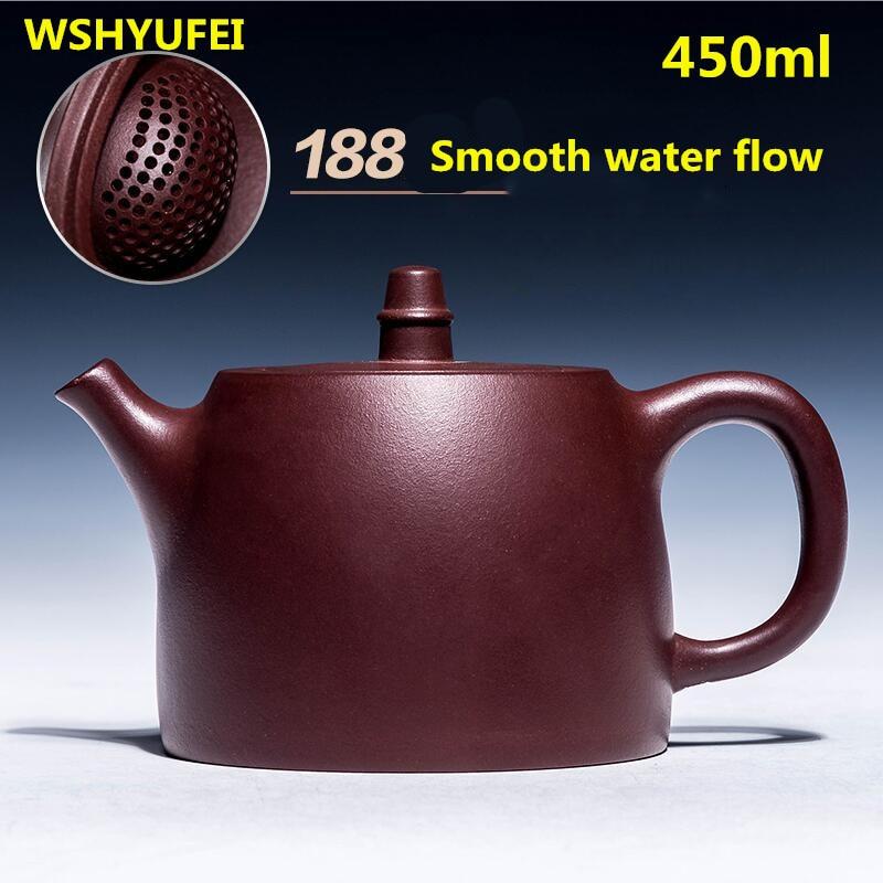 450 ml 대용량 yixing zisha 냄비 수제 대용량 버블 주전자 원래 광산 유명한 세트 볼 구멍 teaset 보라색 진흙-에서찻주전자부터 홈 & 가든 의  그룹 1