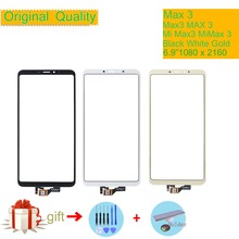 ORIGINAL For Xiaomi Mi Max 3 MiMax3 Max3 Touch Screen Digitizer Panel Sensor Front Outer Glass NO LCD MAX Touchscreen