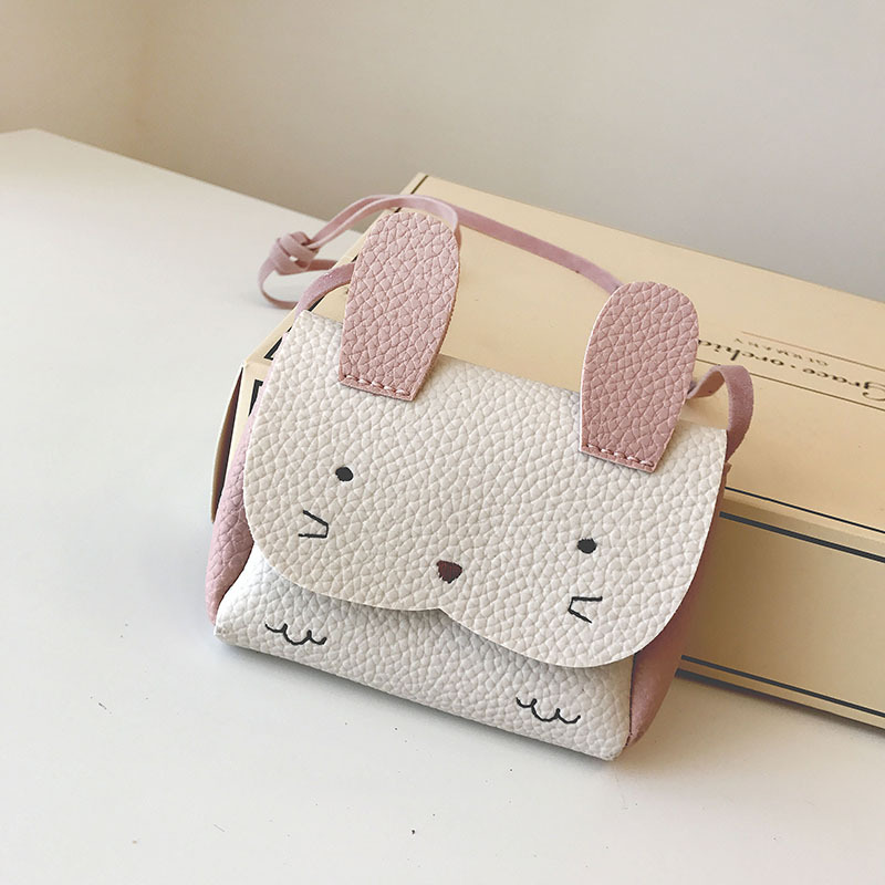 Cute Toddler Zero Wallet Bag Cartoon Rabbit Crossbody Bag Kids Girls Messenger Bag Baby Purses and Handbags Gift