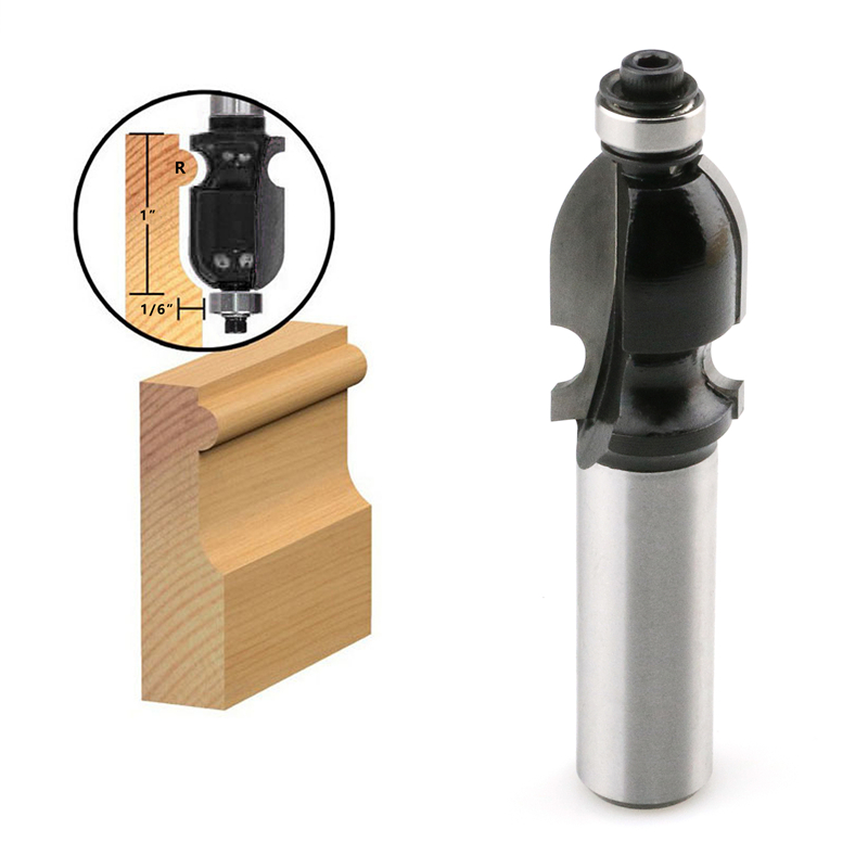 1//4-Inch Shank 1pc Cove Edging and Molding Router Bit with 22mm Cutting Dia