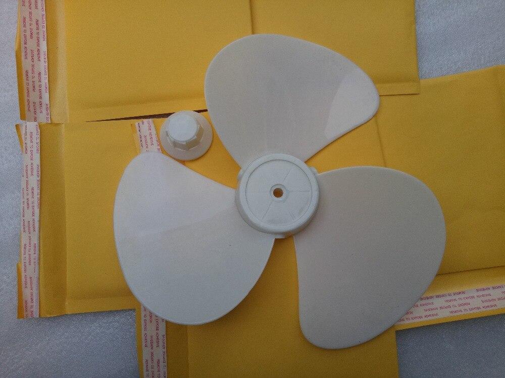 100% новый 12 дюйм(ов) белый пластиковый стол или вентилятором лезвие 3 лезвия 27 см диаметр 8 мм отверстие