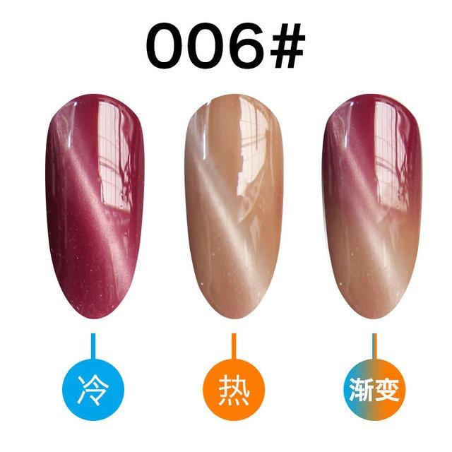 CoKEKOU Magnet 3D Cat Eye UV Gel Polish Glitter Varnish Temperature Color Changing Long-lasting Nails Gel Polish gel lacquer